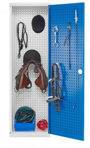 Sattelschrank Modell H1 lichtgrau / enzianblau