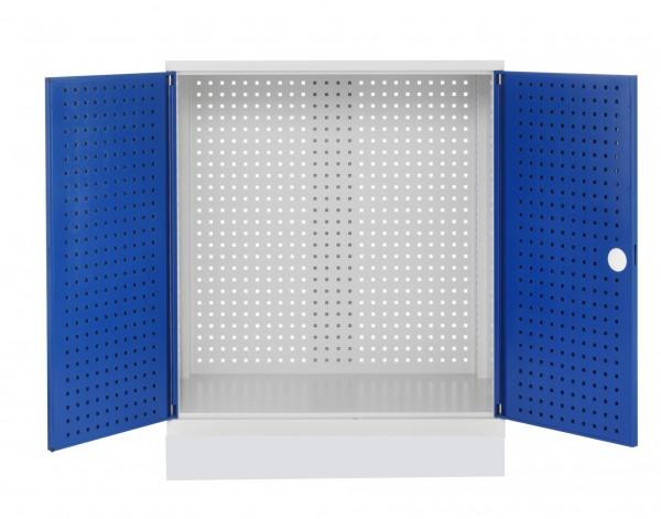 Leergehäuse Sattelschrank Modell K lichtgrau / enzianblau ...
