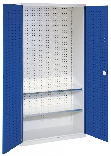Leergehäuse Sattelschrank Modell S lichtgrau / enzianblau