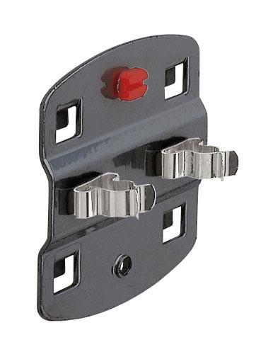RasterPlan Doppelte Werkzeugklemme, D 10 mm, anthrazitgrau.